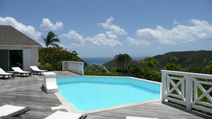 Pool and ocean views from JJB Villa!