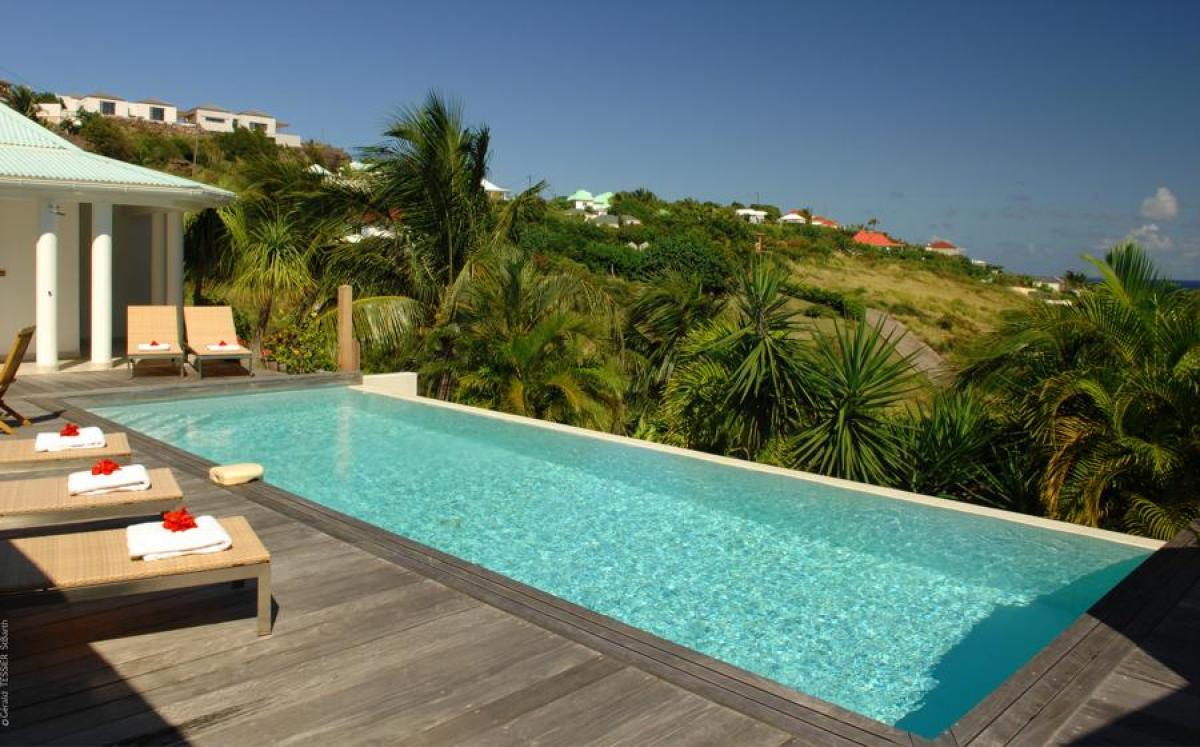 Lush views from the pool terrace