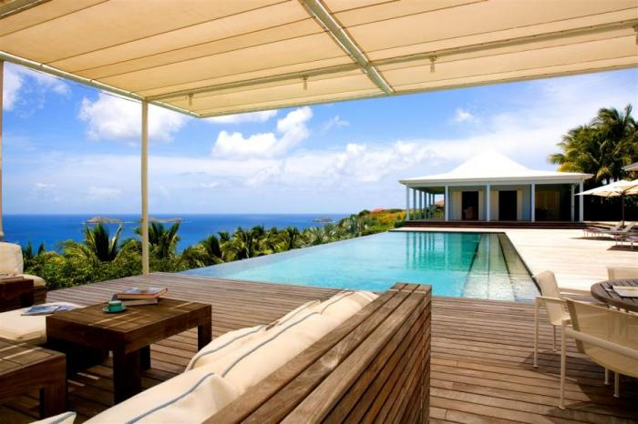 The ocean view from the pool at Hill House villa!
