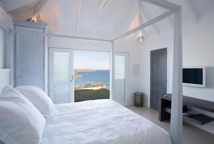 Views of the bay from the bedroom.