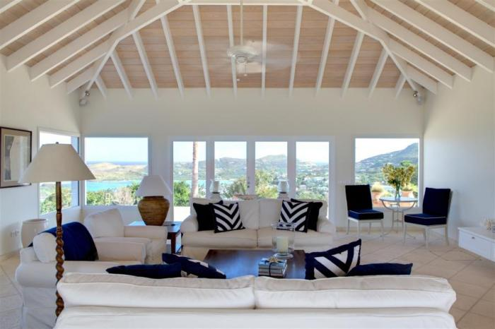 Panoramic views all throughout the villa.
