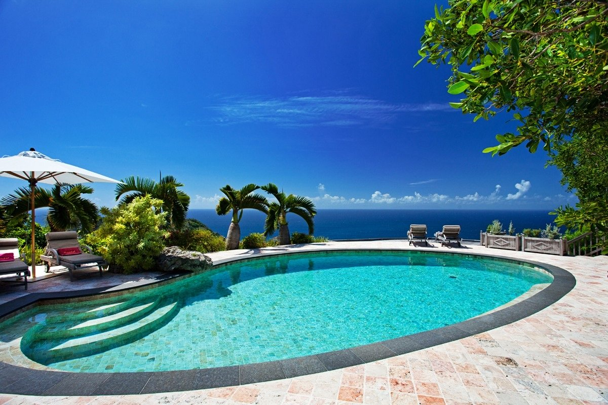 Enjoy amazing views from the pool at Cristobal Villa