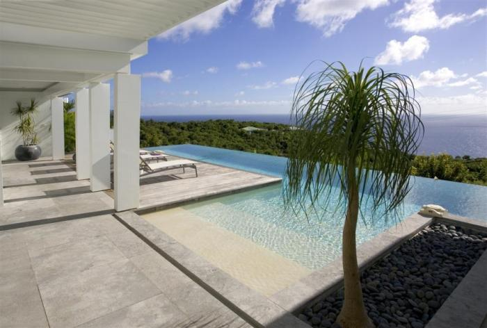 Sweeping ocean views from the pool at BJJ villa!