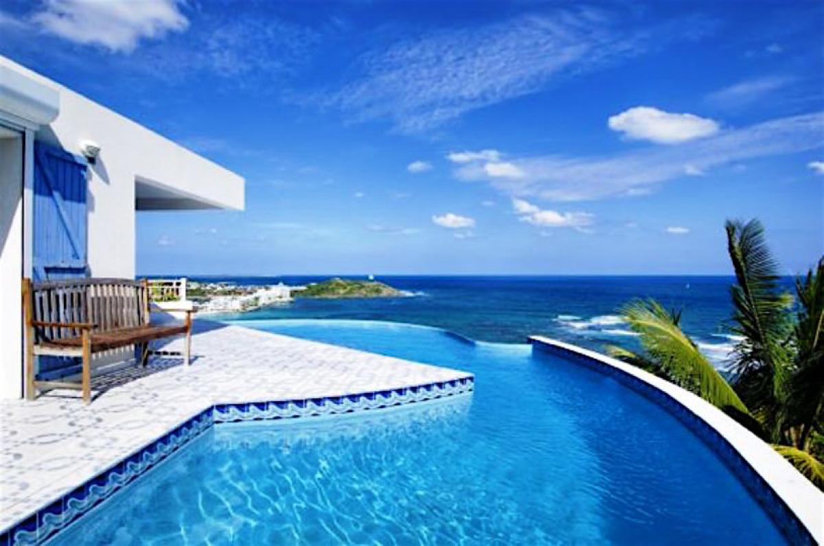 Oceanview from the pool at Sea Star villa!