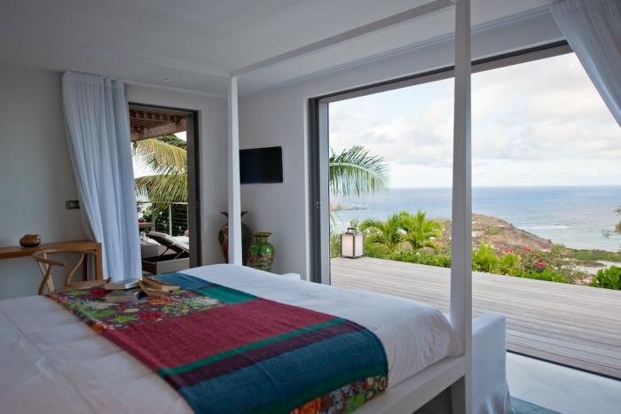 Bedroom looking out to the ocean.