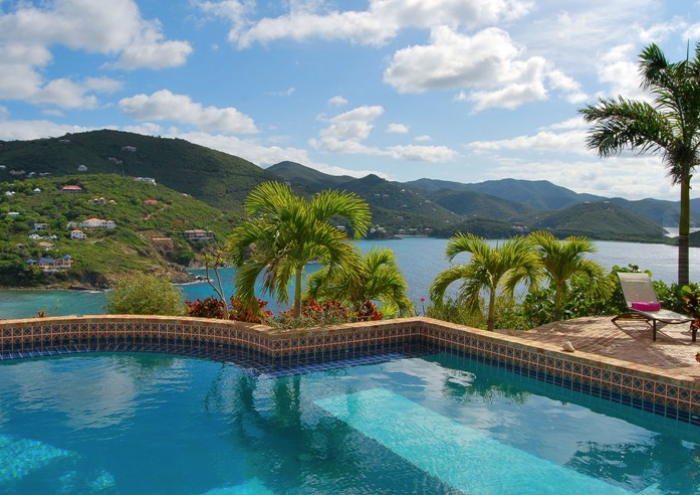 Amazing views from the villa pool.