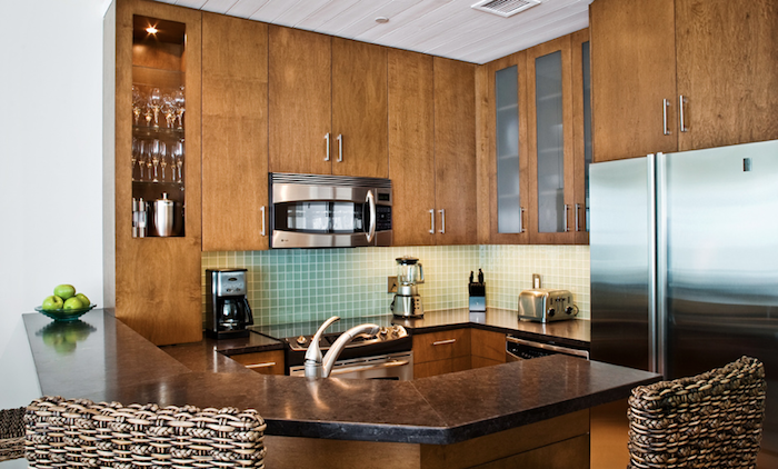 West Bay Club Well-equipped kitchen with high bar. image, Turks and Caicos