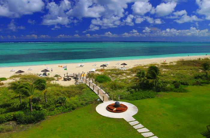 Aerial view of Grace Bay beach!