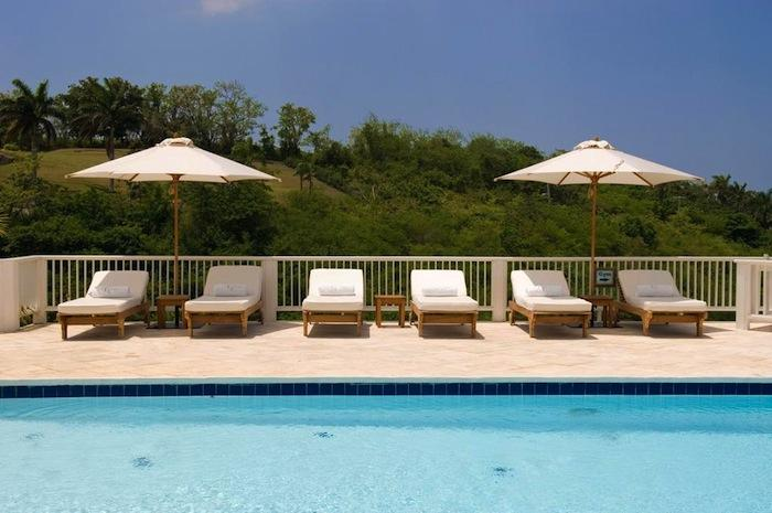 Viviana Villa at Tryall Club Lounge seating poolside. image, Jamaica