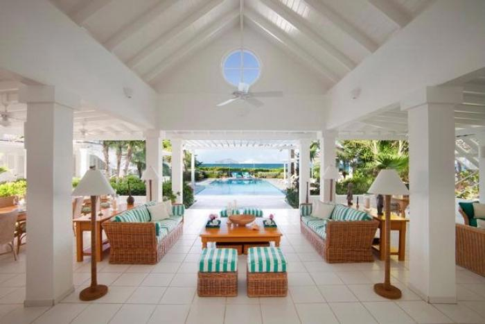 Bananaquit Villa Living room views to the pool and ocean. image, Antigua
