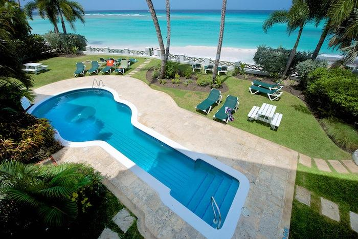 Leith Court Villa #13 Views to the pool and ocean from Leith Court Villa #13. image, Barbados