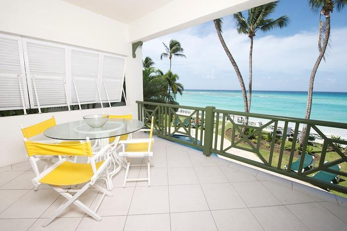 Leith Court Villa #13 Terrace seating with ocean views. image, Barbados