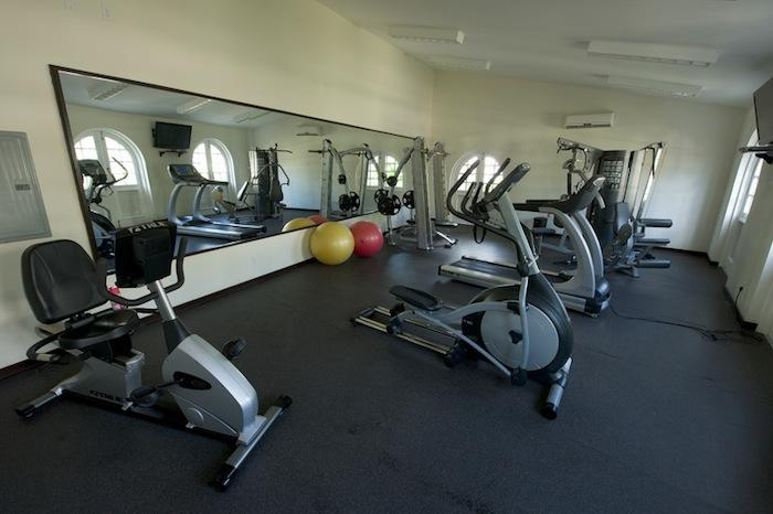 The resort's gym facilities