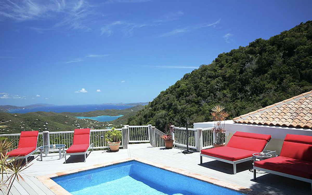 Stunning views from the pool deck at Summerwind