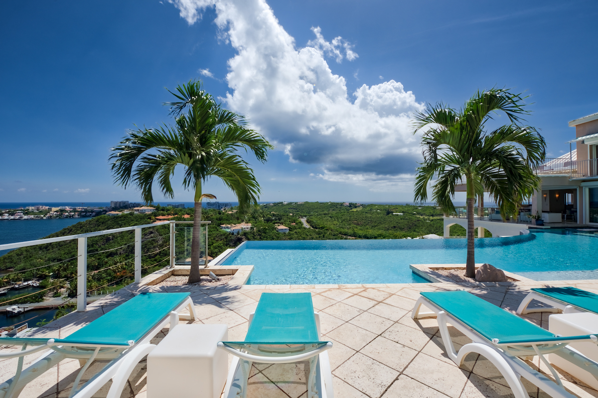 Lounge and enjoy the views from the pool deck