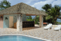 Cabana and pool are beachfront at Reef Romance