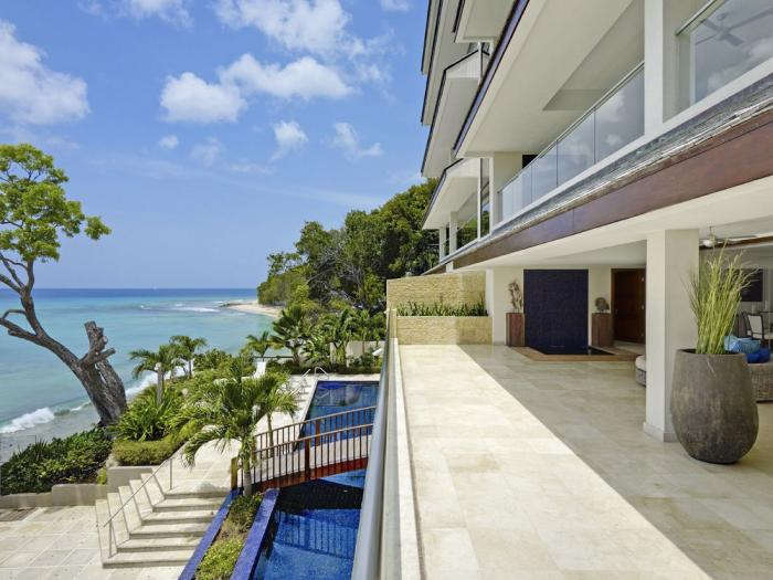Portico 1 Terrace and pool at Portico 1. image, Barbados