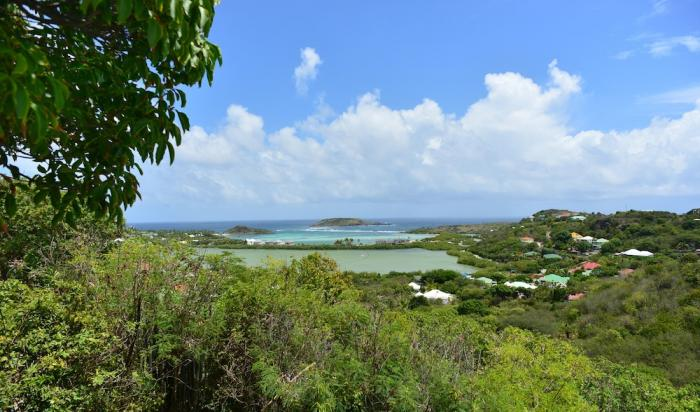 Wonderful views overlooking Grand Cul de Sac lagoon and the bay.