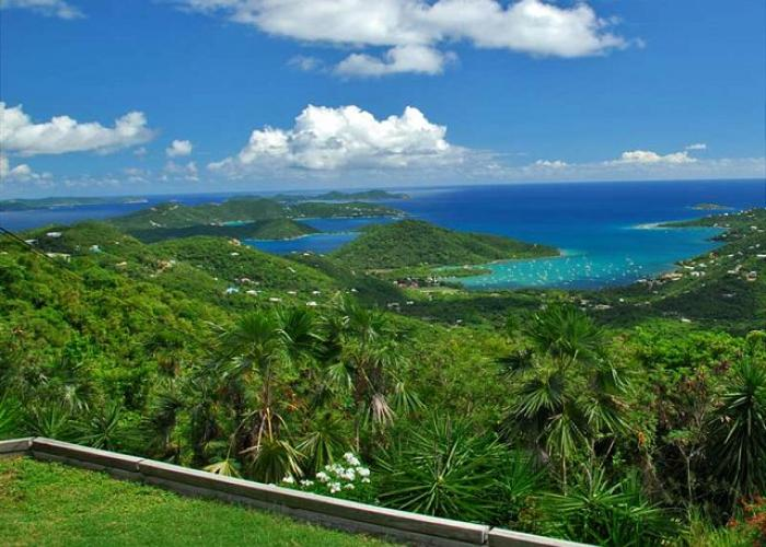 Enjoy the views of Coral Bay Harbor and the British Virgin Islands!