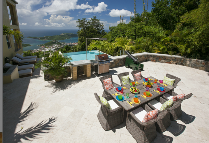 Wonderful views from the pool and deck area at Outrigger House!