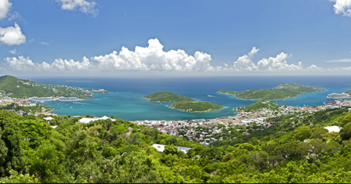 Outrigger House sits directly above Charlotte Amalie Harbor with breathtaking views.