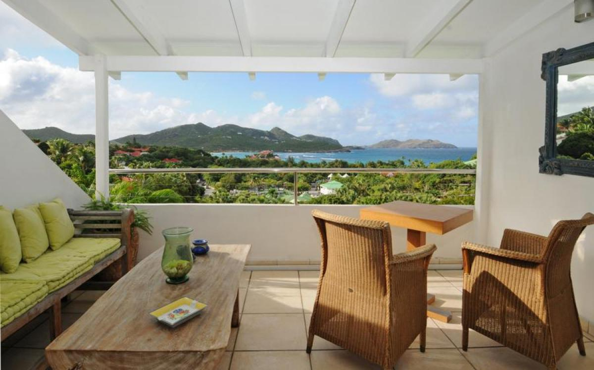 Picturesque views from the patio at Paradise View Villa