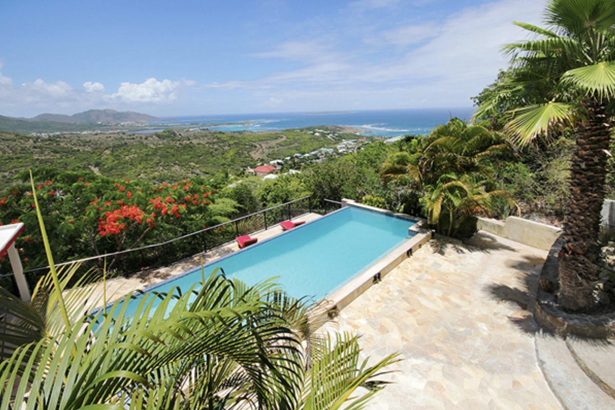 Amazing hillside pool at Kismet Villa
