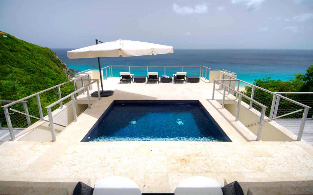 Private pool with amazing views at Villa Lune