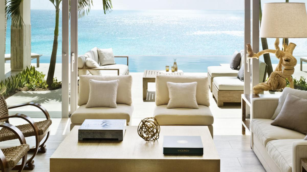 Viceroy Blufftop Villa Villa living room at Viceroy image, Anguilla