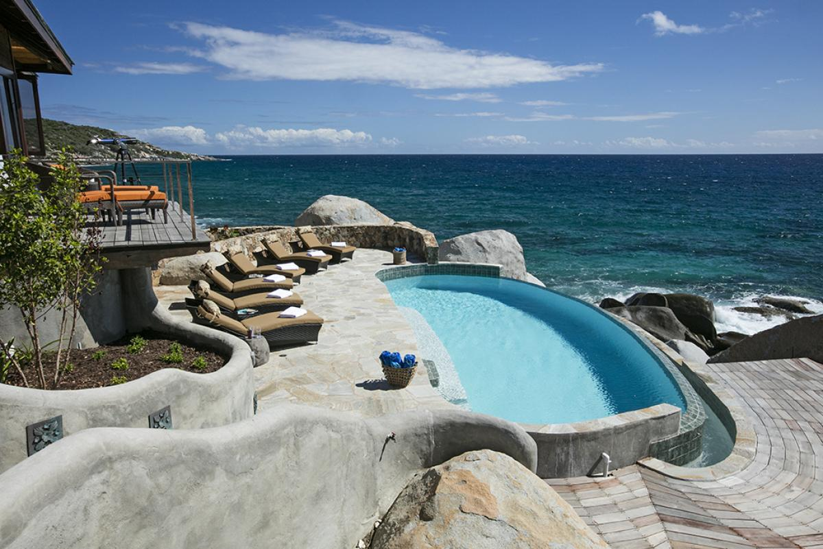 Pool view overlooking ocean