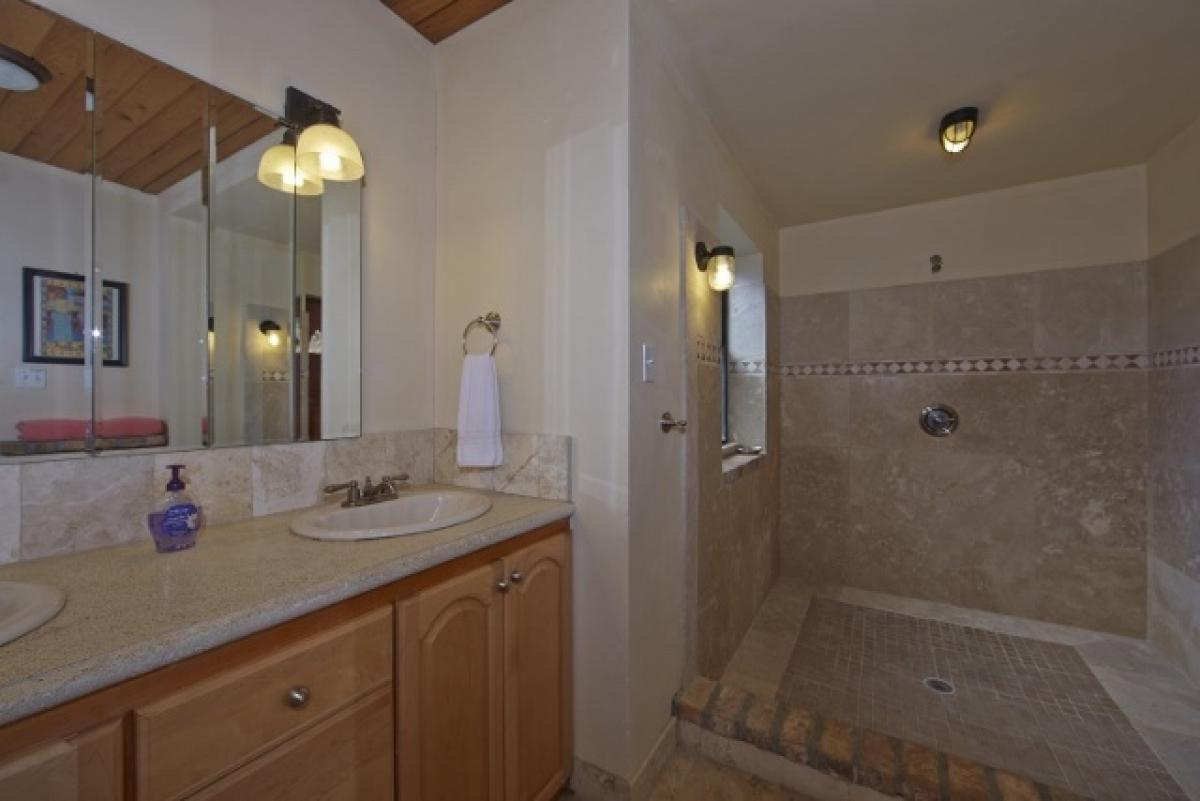 Shower and double sinks