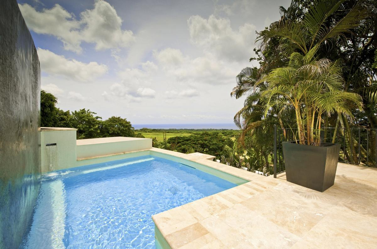 Relaxation awaits in the luxurious plunge pool